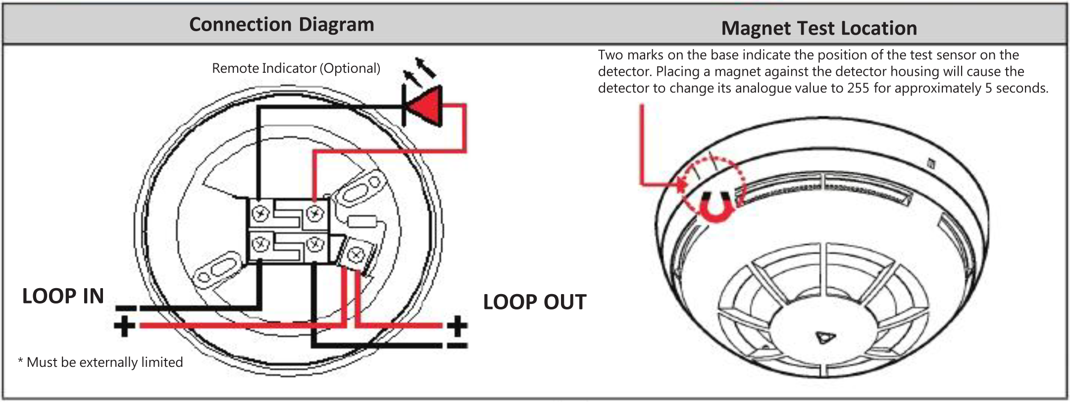 smoke detector installation wiring diagram